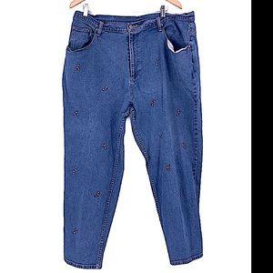 Vintage Christmas Quaker factory candy cane jeans